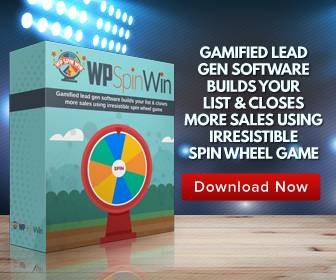 Gamified Lead Gen Software Builds Your List And Closes More Sales Using Irresistable SpinWin WP Plugin